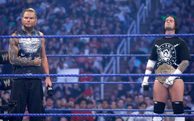Jeff Hardy vs CM Punk WWE four
