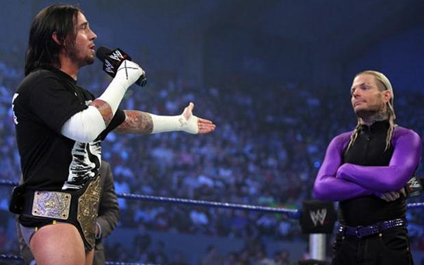 Jeff Hardy vs CM Punk three