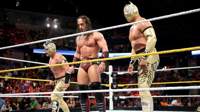 Neville and Lucha Dragons WWE 2015