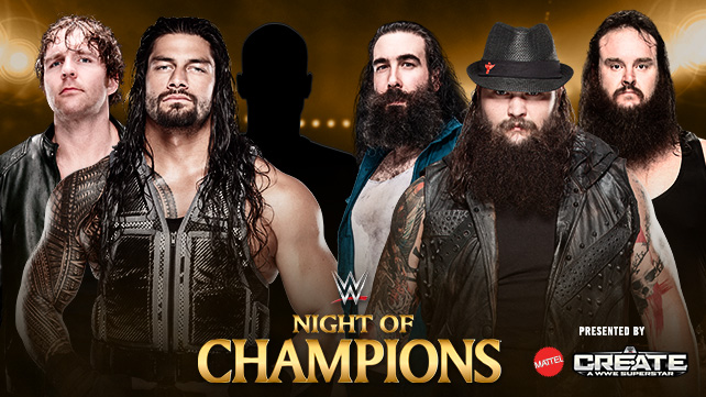 WWENOC Ambrose & Reigns vs Wyatts