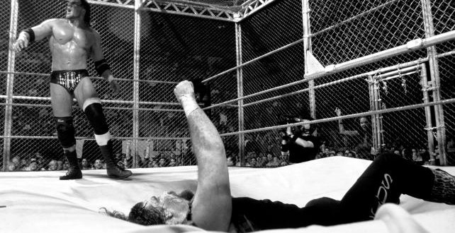 hhh vs cactus jack hell in a cell