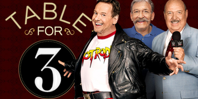 wwe network 39 s table for 3 review wrestlemania legends rowdy roddy piper paul orndorff. Black Bedroom Furniture Sets. Home Design Ideas