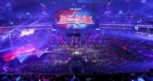IMAGE DISTRIBUTED FOR WWE - A record crowd of 101,763 fans from all 50 states and 35 countries at WrestleMania 32 at AT&T Stadium on Sunday, April 3, 2016, in Arlington, Texas. (Brandon Wade/AP Images for WWE)