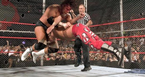 Image result for WWE Bad Blood 2004 Hell in a Cell